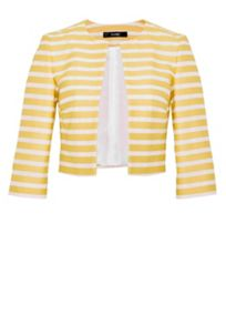 Hallhuber Striped crop jacket
