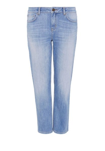 Hallhuber Straight leg jeans with fringed hem