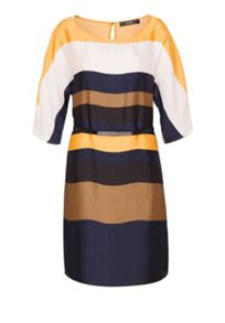 Hallhuber Striped kimono dress