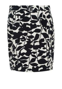 Hallhuber Mini skirt with leaf print