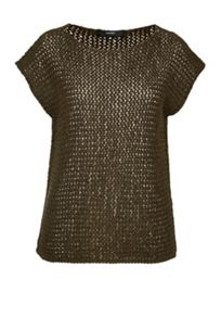 Hallhuber Knit top with long side vents