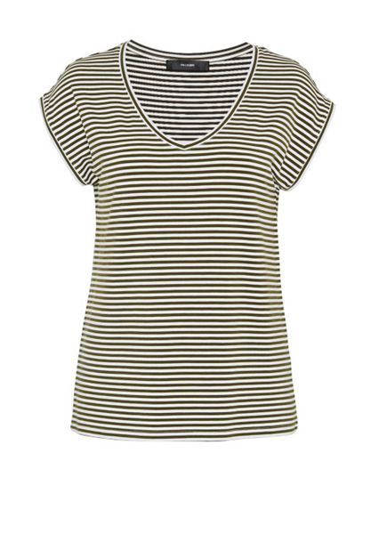 Hallhuber V-neck stripe top