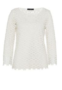 Hallhuber Lace top with three-quarter sleeves