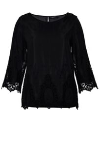 Hallhuber Blouse with lace detailing