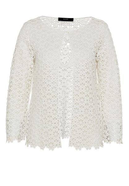 Hallhuber Lace jacket made of cotton