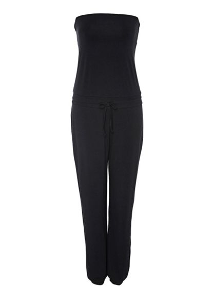 Hallhuber Strapless jersey-stretch jumpsuit