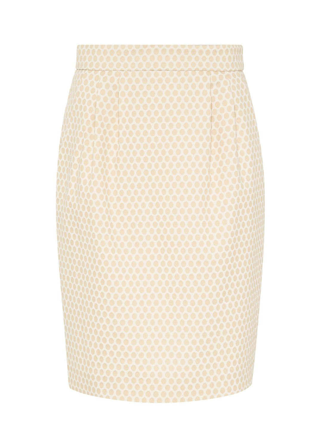 Hallhuber High-waist jacquard skirt Beige £39.00 AT vintagedancer.com