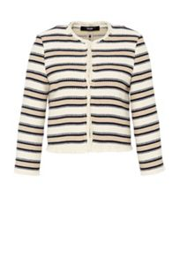 Hallhuber Striped fringe jacket