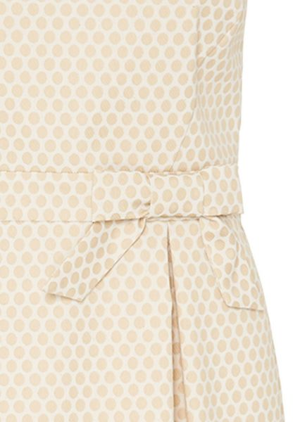 Hallhuber Polka dot strap dress with bow feature