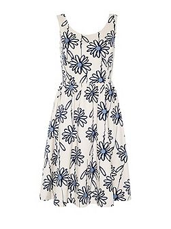 Strap dress with floral print