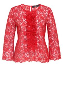 Hallhuber Lace top with ruffle detail