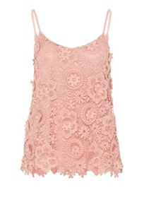 Hallhuber Sculptural lace spaghetti strap top