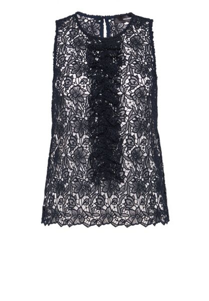 Hallhuber Ruffled lace top