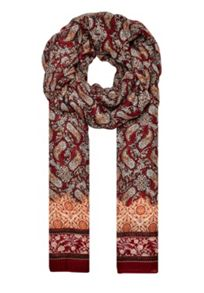 Hallhuber Paisley scarf with border