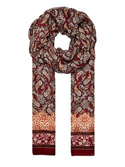 Paisley scarf with border