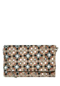 Hallhuber Embroidered boho clutch