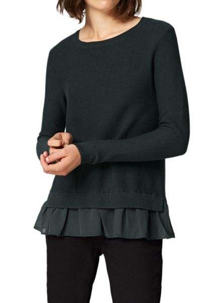Hallhuber Boxy jumper with ruffle detail