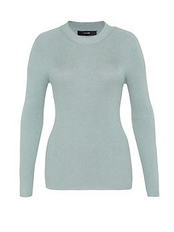 Rib Knit Jumper with Lurex