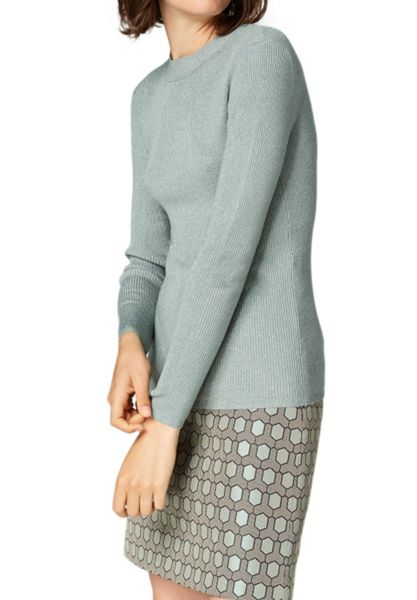 Hallhuber Rib Knit Jumper with Lurex