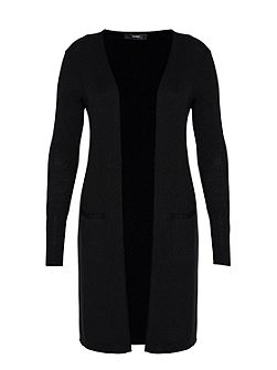 Long cardigan with side vents