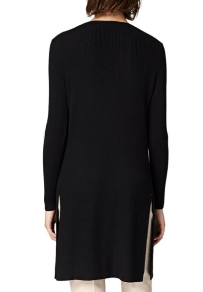 Hallhuber Long cardigan with side vents