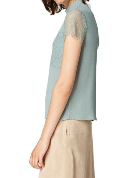 Hallhuber Boxy top with lace