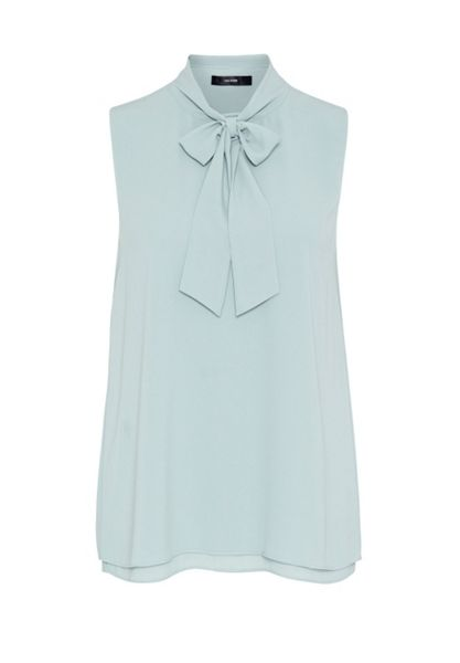 Hallhuber Sleeveless tie blouse