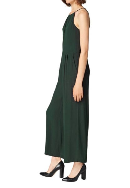 Hallhuber Culotte-style jumpsuit with lace inserts