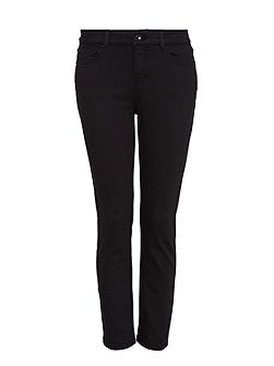 Cropped straight-leg jeans