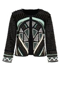 Hallhuber Ethnic jacket with appliqué details
