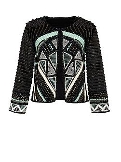 Ethnic jacket with appliqu?® details