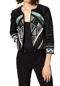 Hallhuber Ethnic jacket with appliqu?® details