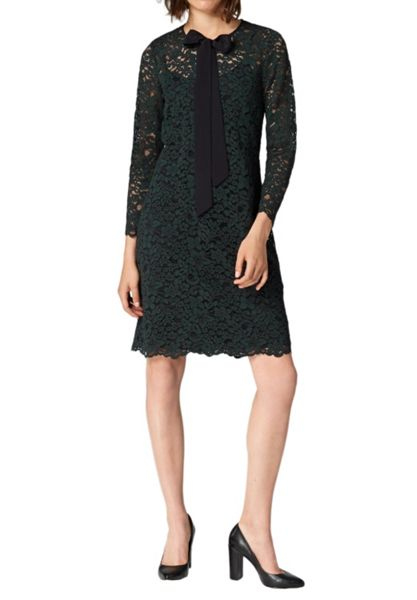 Hallhuber Lace dress with self-tie detail
