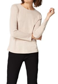 Hallhuber Back zip crepe top