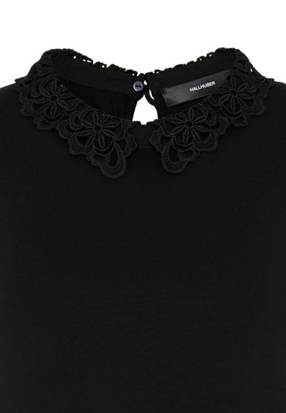 Hallhuber Jersey top with lace collar