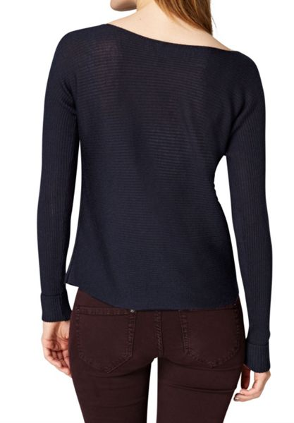 Hallhuber Boxy jumper with horizontal stripes