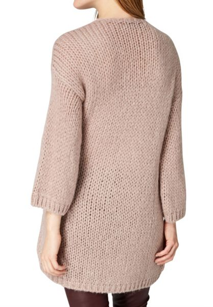 Hallhuber Chunky knit long cardigan