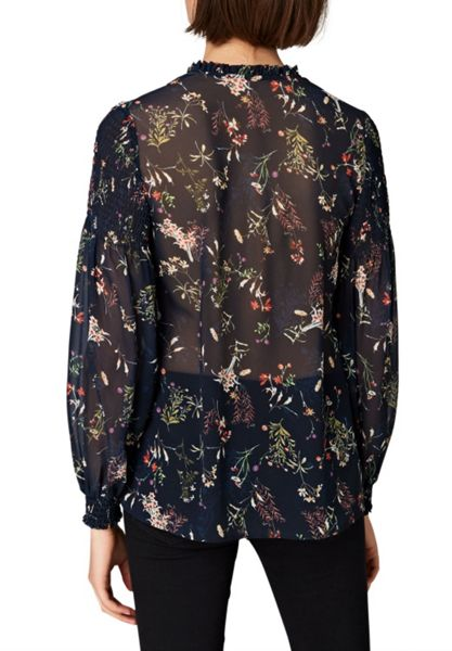 Hallhuber Wide blouse with smock detailing