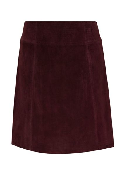 Hallhuber Gently flared suede skirt