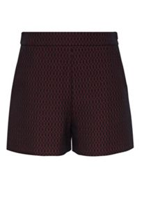 Hallhuber Jacquard shorts with diamond patterning
