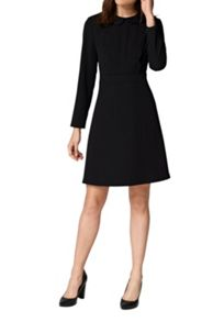 Hallhuber Rounded collar dress with scalloped edge