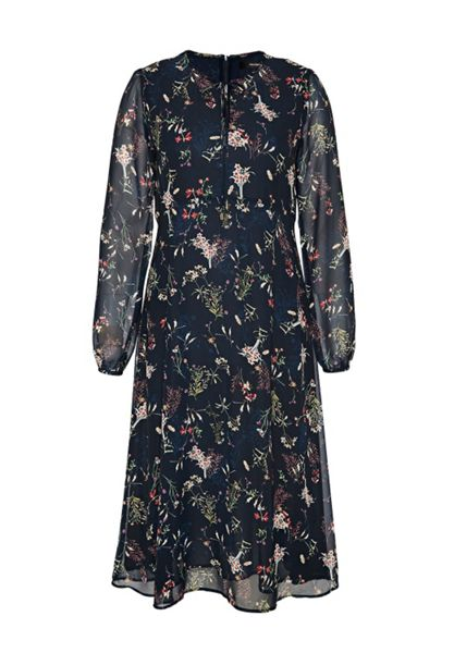 Hallhuber Midi dress with scattered floral print