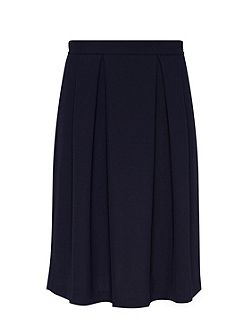 Midi skirt with box pleat
