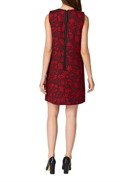 Hallhuber Jacquard dress with metallic zipper