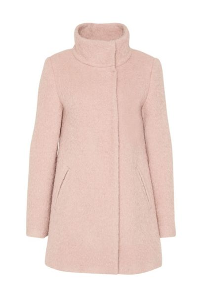 Hallhuber Long-hair style crop coat