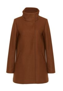 Hallhuber Crop coat with box pleat