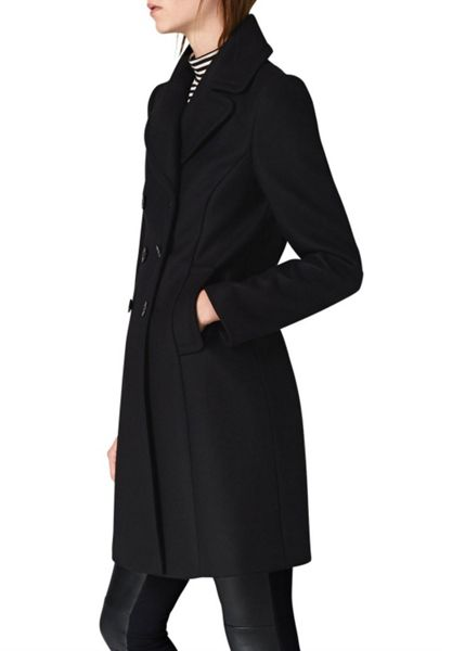 Hallhuber Wool Coat with Lapels