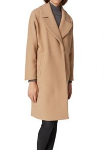 Hallhuber Oversized coat made of wool jersey