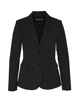 Business blazer with flap pockets