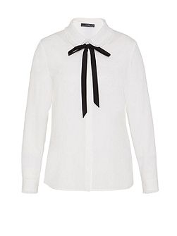 Ruffle blouse with bow detail